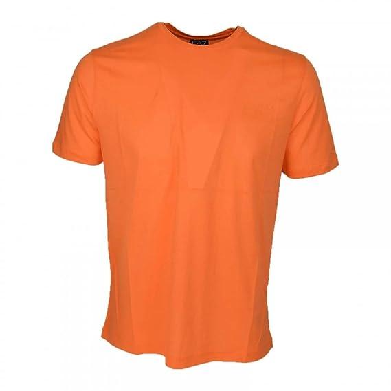 Emporio Armani - Camiseta - Manga corta - para hombre Naranja ...