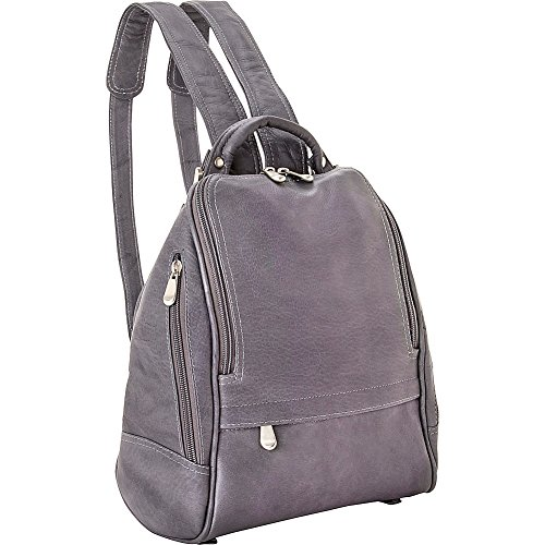 le-donne-leather-u-zip-mid-size-backpack-purseone-sizegray