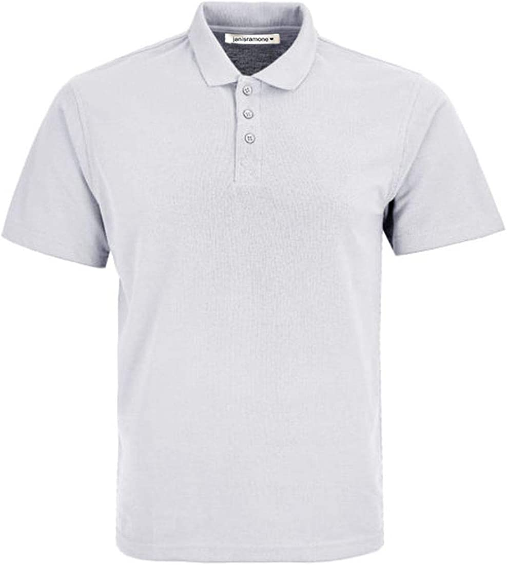 janisramone Kids Girls Boys New Plain Short Sleeve Basic Polo Shirts School PE Uniform Unisex Summer T-Shirt