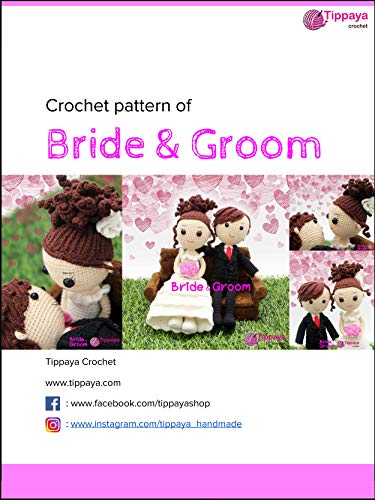 Groom Crochet - Crochet pattern of Bride & Groom: In Crochet pattern of Bride & Groom you will find colourful and fun crochet patterns, easy to follow for their detailed text instructions and symbol chart.