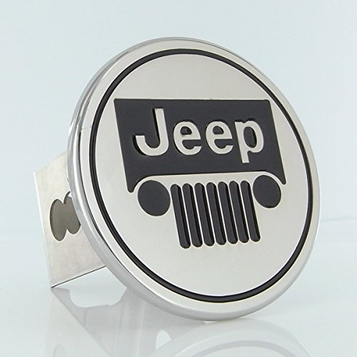 Auto Gold TJEEC Chrome Trailer Hitch Plug, Jeep