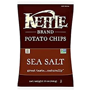 Kettle Brand Potato Chips, Sea Salt, 13-Ounce Bags (Pack of 10)