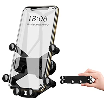 Phone Holder for Car,YINVA Premium Car Phone Holder,One-Handed One Second Operation,Gravity Car Phone Mount Compatible with All Smart Phones,Supports Phone Cases