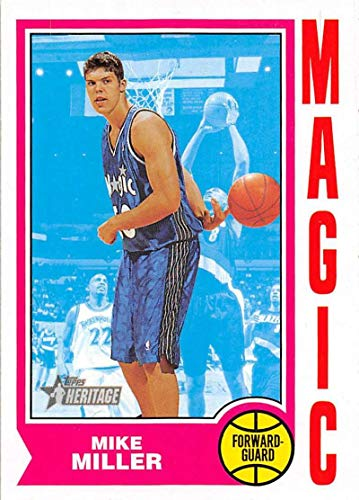 2001-02 Topps Heritage Basketball #52 Mike Miller Orlando Magic Official NBA Trading - Nba Mike Miller
