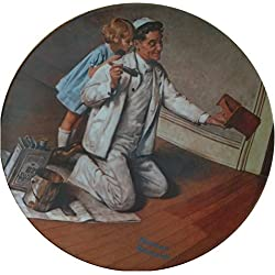 "Collectible Plate #15992 Norman Rockwell ""The Painter"" Vintage 1984, Working Man Collectible Fine China Art"