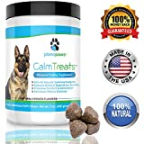 Calm Treats, Safe, Natural Calming Treats for Dogs, Dog Anxiety Relief, Helps With Separation Anxiety, Motion Sickness, Storms, Fireworks. Natural Stress Relief for Dogs, Made in USA, 120 Soft Chews