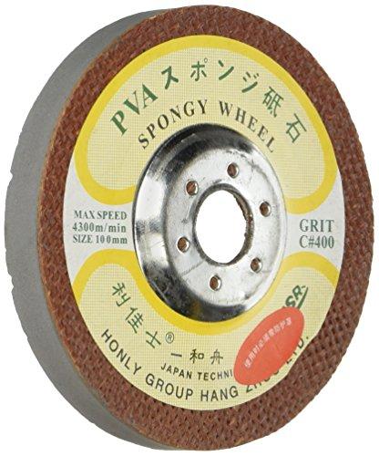 Toolocity HLPVAMS3 4-Inch PVA Marble Polishing Wheel MS Styple, 400 Grit