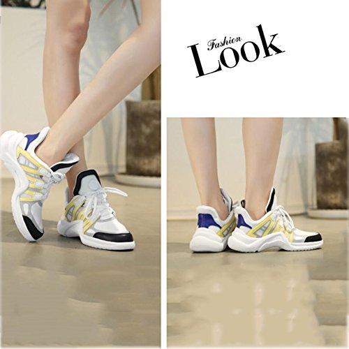 da running casual da traspirante Scarpe da coreana B Scarpe 40 Colore in pelle donna Sneakers donna C Dimensione esterno ginnastica Scarpe da da fwqxZ8d6