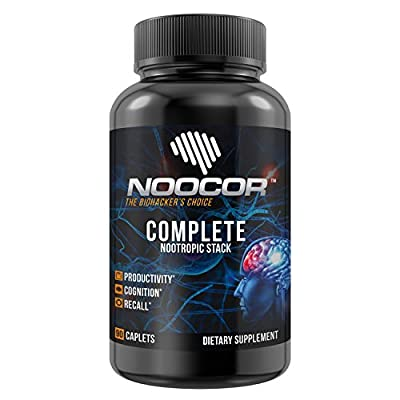 Noocor: The BEST Nootropic Stack on Amazon with 3300mg+ of Noopept, Alpha GPC, Huperzine A, Ashwagandha, Choline Bitartrate, DMAE, Citicoline, Bacopa Monnieri & Other Nootropics 90ct Bottle