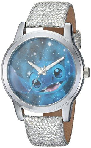 Disney Women's 'Lilo and Stitch' Quartz Metal Casual Watch, Color:Grey (Model: WDS000355)