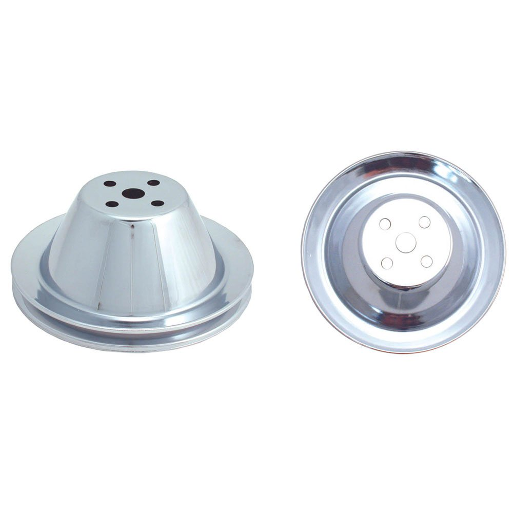 Spectre Performance 4368 Chrome Plated Crankshaft Pulley for Small Block Chevy by Spectre Performance