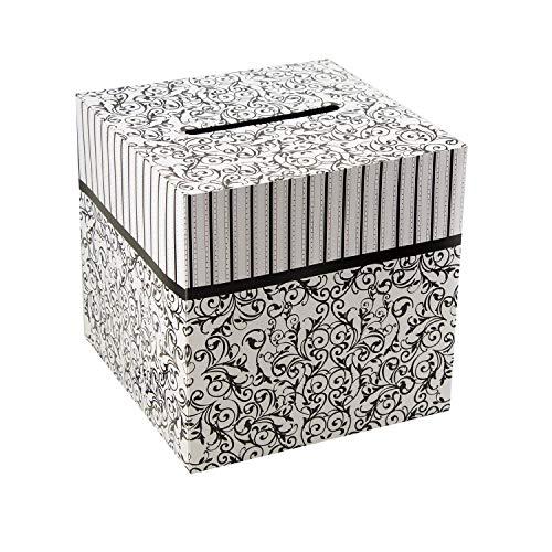 Black & White Wedding Card Money Gift Box Reception Wishing Well 12
