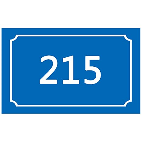 Groovy Aspire Customized Aluminum Sign Door Sign Road Sign Home Address Sign Hotel Signs Room Number Plaque Various Sizes Blue 3 1 2 Wx 4 3 4L Download Free Architecture Designs Intelgarnamadebymaigaardcom