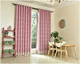 Orolay 2 Layers Mix & Match Embroidered Voile and Blackout Curtain Panel Pink 52x84inch Review