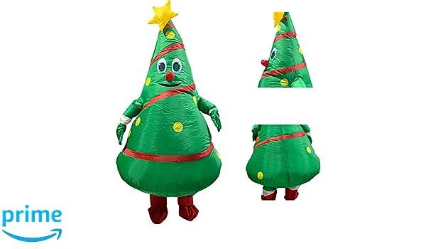 Okngr - Disfraz hinchable para adulto, diseño de árbol de Navidad ...
