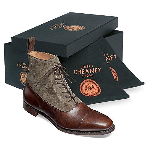 Cheaney Brixworth Balmoral Boot in Burnished Mocha Calf/ Tarn Suede Mocha Lh8SGGq