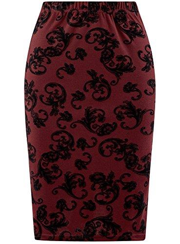 Jupe Floqu Rouge Femme Ultra 4929e Crayon oodji Imprim RaBTEq