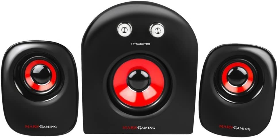 Mars Gaming MS2 - Altavoces gaming (20W potencia, 5 drivers / 3 ...