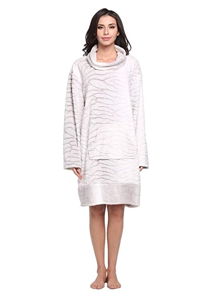 Dorekim mujeres Lujo Camisón Manga larga Super suave Bata de noche Ropa de dormir DK6802 (