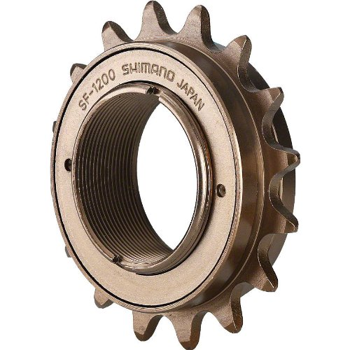 Single Speed Sprocket - SHIMANO SF-1200 Single Speed Freewheel (16Tx1/8 1 Speed)