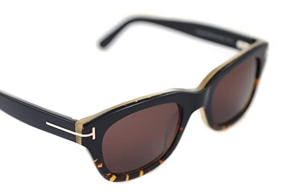 7bf874cc0ec Tom Ford FT0237 Snowdon Sunglasses 05J Black Havana Brown Gradient 50mm
