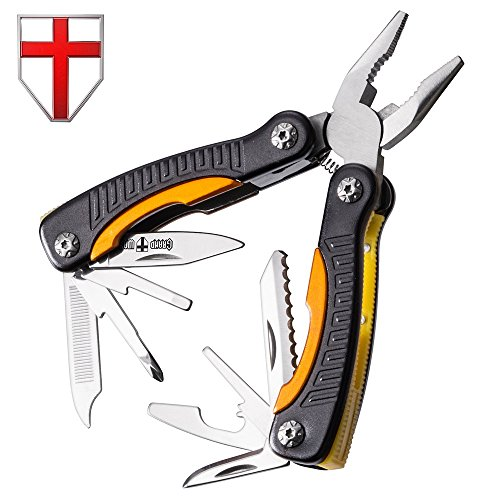 (Grand Way Mini Utility Multitool with Knife and Pliers - Best Small Multi Purpose Tool with All in One Tool Set - Everyday Universal Knife for Camping, Survival and Outdoor Activities 2229)