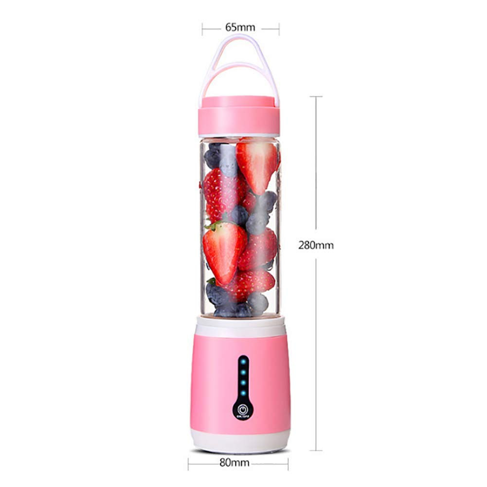 Juice Blender Creative Electric Portable Juicer Glass Multi-Función Usb Juicer Food, Fruta, Batido De Leche, Comida Para Bebés,Pink: Amazon.es: Hogar