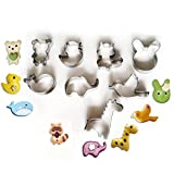 Ogori 28pcs Animal Cartoon Stainless Steel Biscuit Cutter Mould for DIY Baking Cake Fondant Sugarcraft Pastry Bakeware Decoration