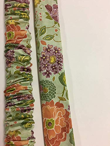 LONG Green Embassy Row Floral, Lamp Cord Cover, Fabric cover, Electrical Cord Cover, hide a cord - IN STOCK, Ready to Ship