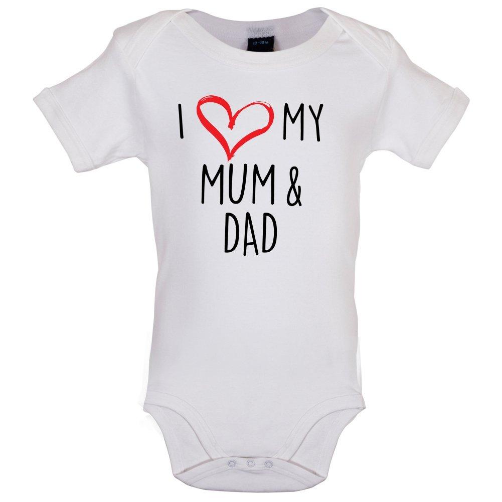 I Love My Mum and Dad - Bébé-Body - Blanc - 3 à 6 Mois