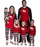 Baonmy Christmas Holiday Family Matching Sleepwear Pajamas Set (Infant, 6M)