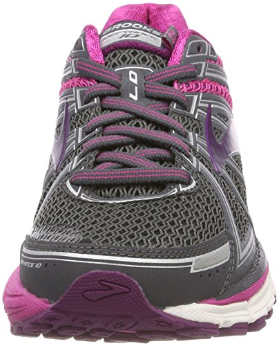 Brooks Defyance 10, Scarpe da Running Donna Multicolore (Ebony/Pink/Plum 091)
