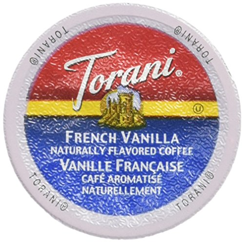 Torani French Vanilla Flavored Coffee, Single Serve Cups for Keurig K Cups Brewer,  24 Count
