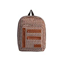 Easy-carry Pattern Backpack-Leaf camel
