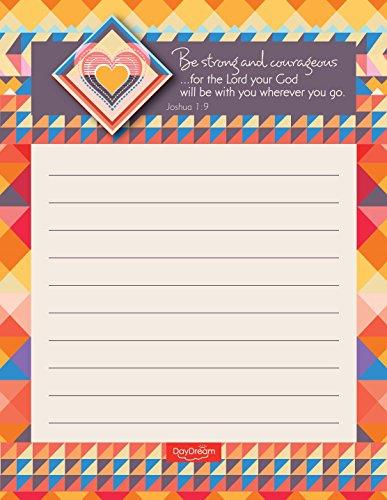 Aztec Inspirational Notepads (Set of 4) - Bible Verse Joshua 1:9 - Canopy Street