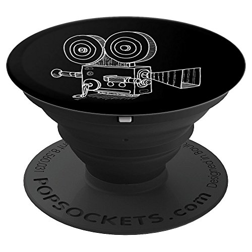 Old Time Retro Movie Camera Filmmakers and Cameramen - PopSockets Grip and Stand for Phones and Tablets from Film Maker Movie Director