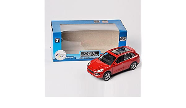 Amazon.com : Collection Alloy Diecast Car Model 1/40 Scale Top Mark Red Porsche Cayenne Turbo : Baby