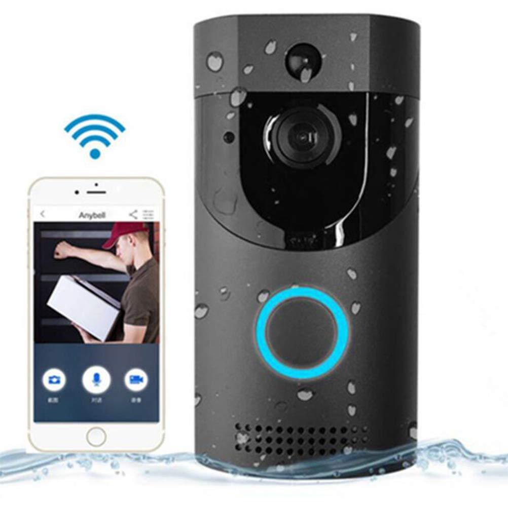 Detecci/ón De Movimiento Pir y Control De Aplicaciones para iOS Timbre De Video Videoportero Inal/ámbrico 720P HD Conversaci/ón y Video Bidireccional En Tiempo Real Visi/ón Nocturna Android