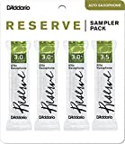 D'Addario Woodwinds DRS-J30 Reserve Alto Saxophone Reed Sampler Pack, 3.0/3.0+/3.5