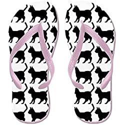 CafePress - Cat Icon (FF) - Flip Flops, Funny Thong Sandals, Beach Sandals
