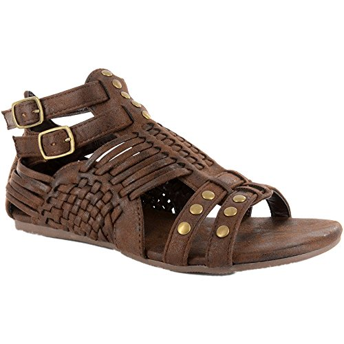 Womens M Distressed Sandal US Esperanza Corkys 10 Chocolate B qR5xF6Tw