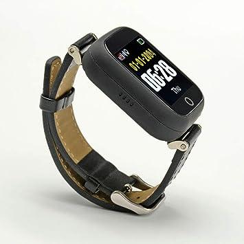 PRIXTON - Reloj Localizador Tracker para Adultos con GPS, Llamada SOS y Chat de Voz, Color Negro | G200