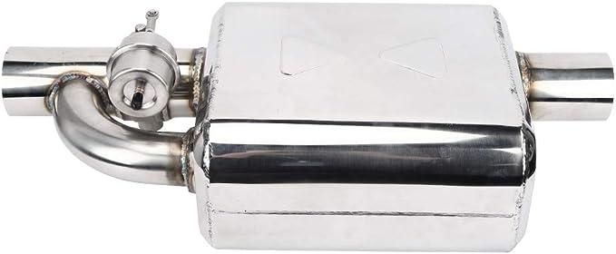 risuonatore per silenziatore di scarico auto universale da 2,5 pollici con telecomando valvola di intercettazione Silenziatore di scarico