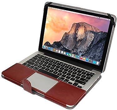 Fundas y Estuches para Mac, Funda de cuero cuaderno con sujetador rápido de 15,4 pulgadas MacBook Pro Retina (Color : Marrón) : Amazon.es: Electrónica