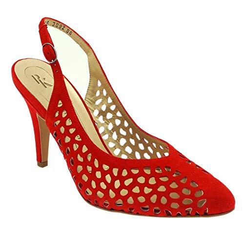 Cuero Vestir Kaiser Rojo red Suede Para Mujer De 76313 100 Zapatos Falla Peter T0RqCR
