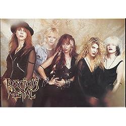 1990 Precious Metal 5 x 8 Postcard Chameleon Records : Alex Rylance Julia Farey Carol Control Mara Fox Janet Robin Leslie Knauer
