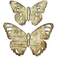 Sizzix 664166 Troquel Bigz - Mariposa envejecida de Tim Holtz