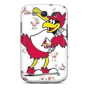 Galaxy S3 St. Louis Cardinals Print High Quality Tpu Gel Frame Case Cover