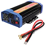 1500W Car Power Inverter DC 12V to AC 110V Inverter 3000 PEAK WATT INVERTER For for Laptop, Tablet, Smartphone and Other Household Devices