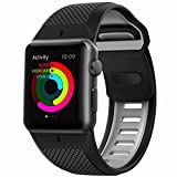 Nomad 42mm Apple Watch Ultrarugged Sport Strap - Black & Slate - Hypoallergenic, Water-Resistant
